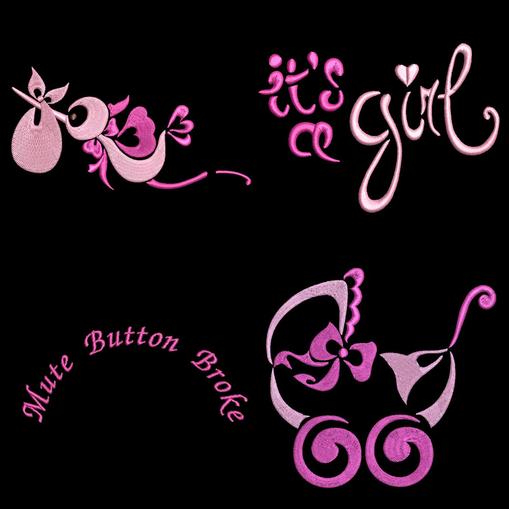 QUICK STITCH BABY GIRL  43 MACHINE EMBROIDERY DESIGNS