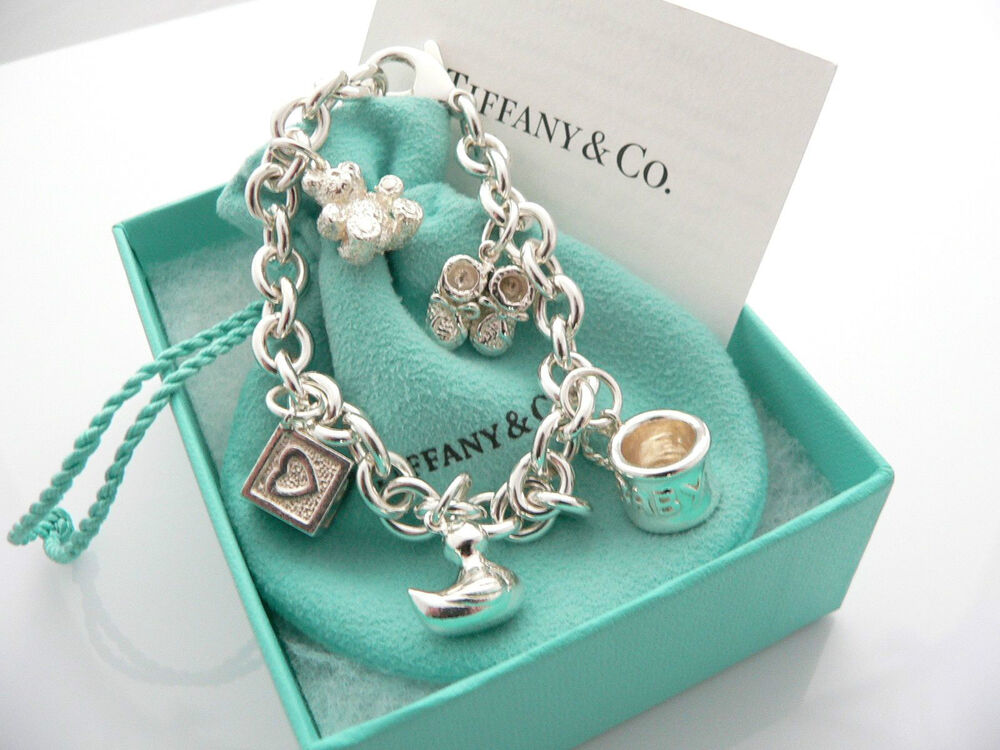 Tiffany Amp Co Silver Baby Duck Cup Shoes Bear Charm