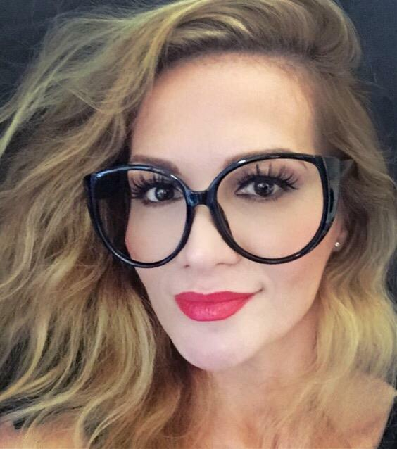 Oversized Large Cat Eye Round Big Clear Lens Celebrity Frames Eye ...