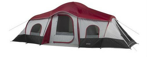 Outdoor Camping Tent 20 X10 Cabin Xl 3 Room 10 Person