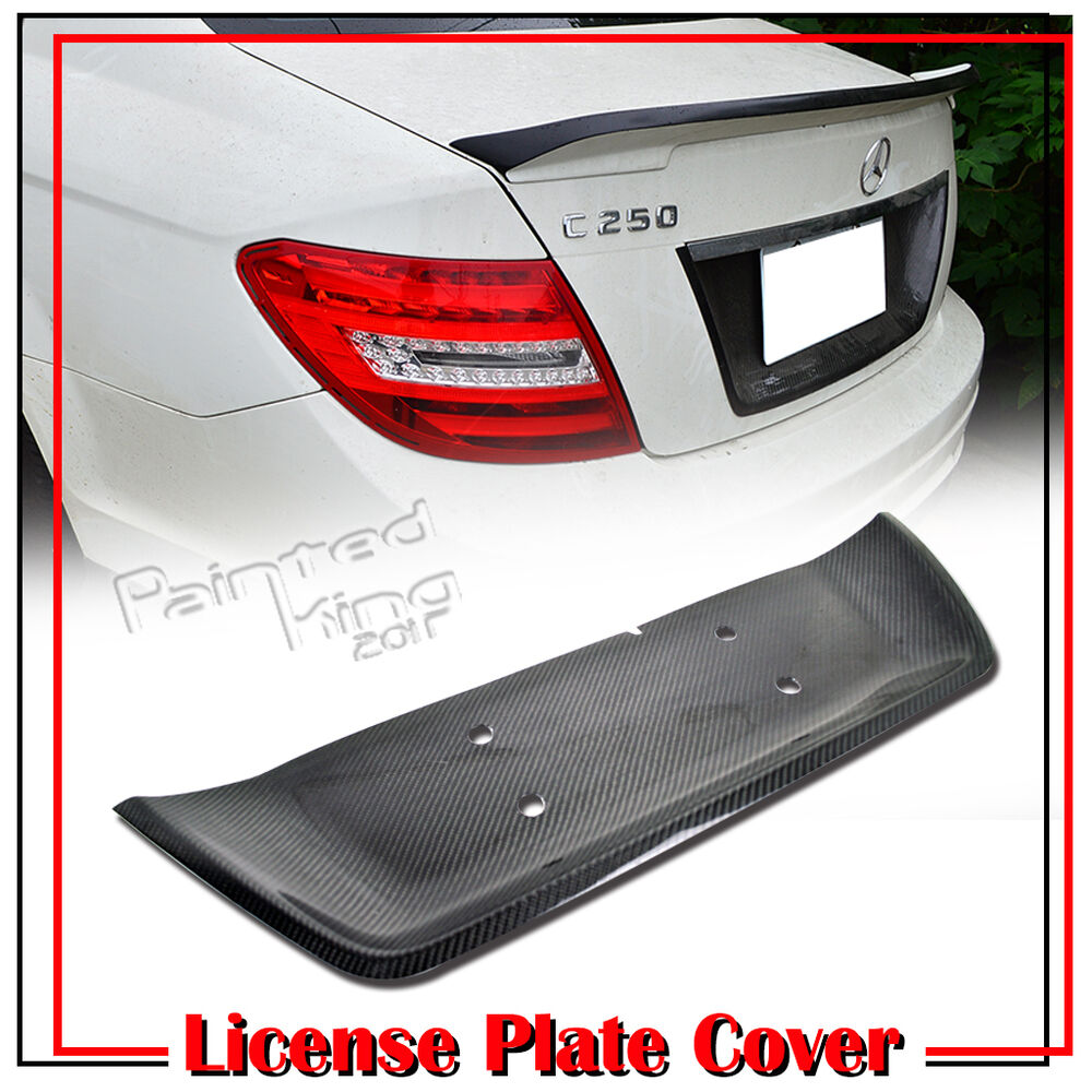 Carbon fiber mercedes benz w204 08 13 sedan rear license for Mercedes benz plate