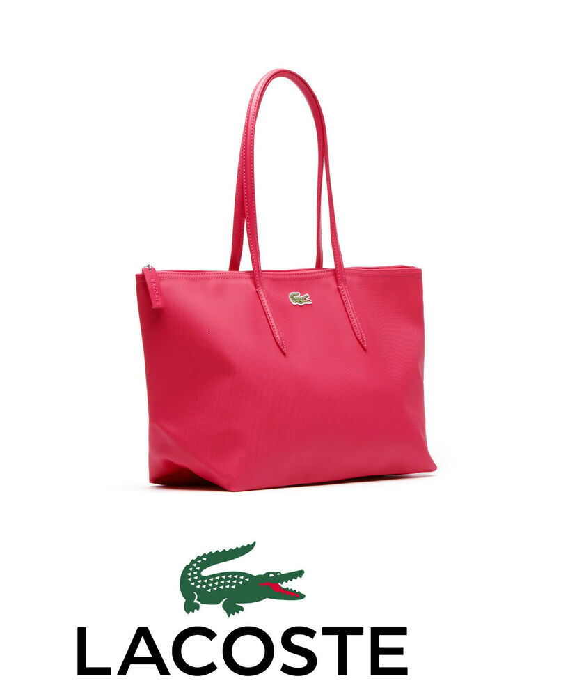 Lacoste L1 Large Ping Bag With 25cm Drop In Virtual Pink Nf0648po Nwt 886619792693 Ebay