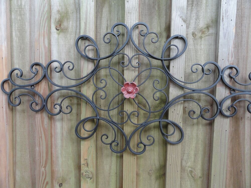 metal wall accents cottage chic iron metal wall decor wall shabby and 4099