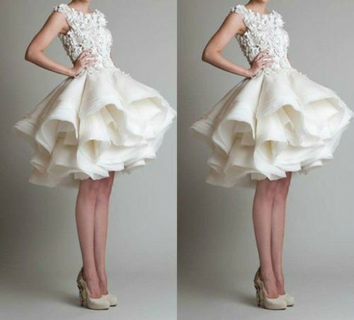 2015 new white ivory short bridal gown wedding dress for White or ivory wedding dress