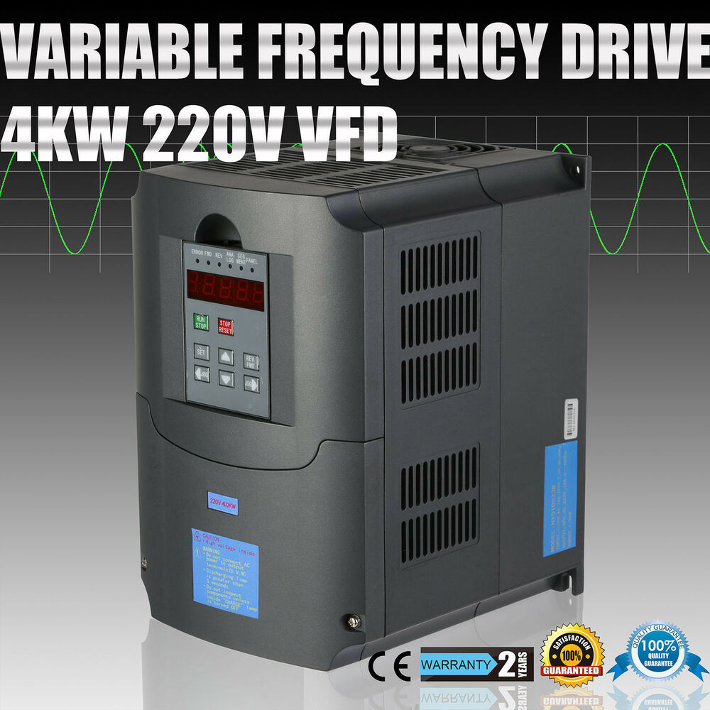 Cnc variable frequency drive inverter vfd 4kw 220 250v for Inverter for 3 phase motor