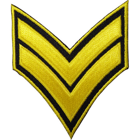 img-Corporal Stripes Embroidered Iron / Sew On Patch US British Army Military Badge