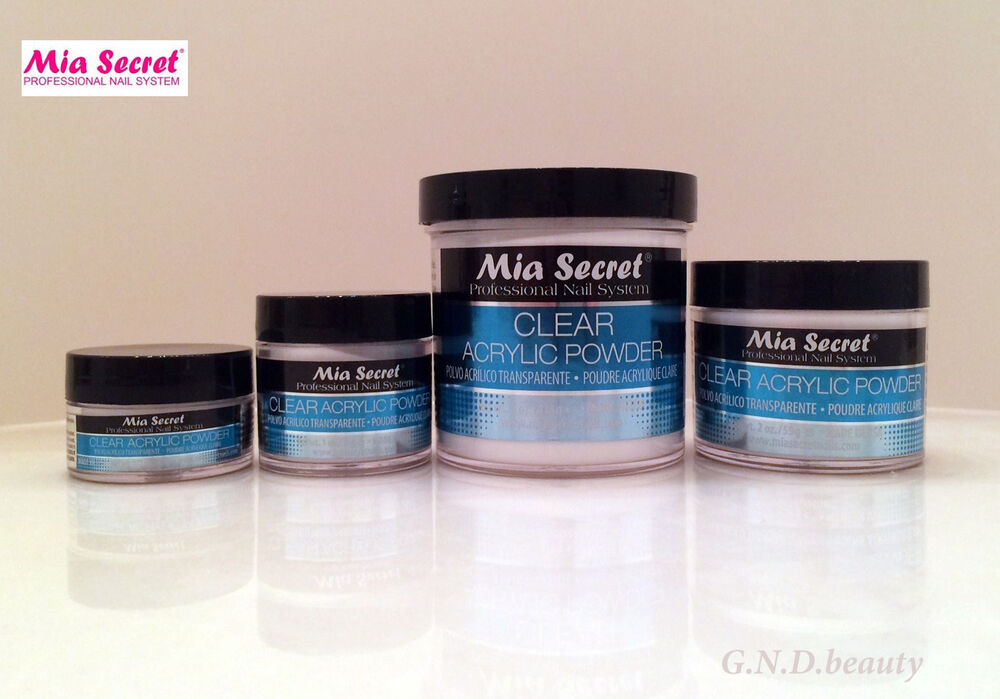 4 oz mia secret professional clear acrylic powders 0 5 1 2 4 8 oz ebay. Black Bedroom Furniture Sets. Home Design Ideas
