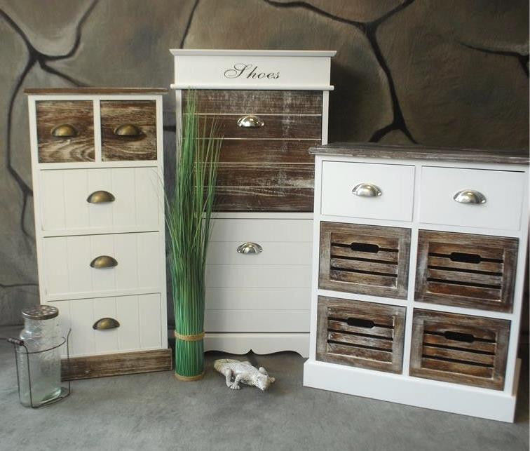 kommode mit schubladen schuhschrank landhaus antik shabby vintage. Black Bedroom Furniture Sets. Home Design Ideas