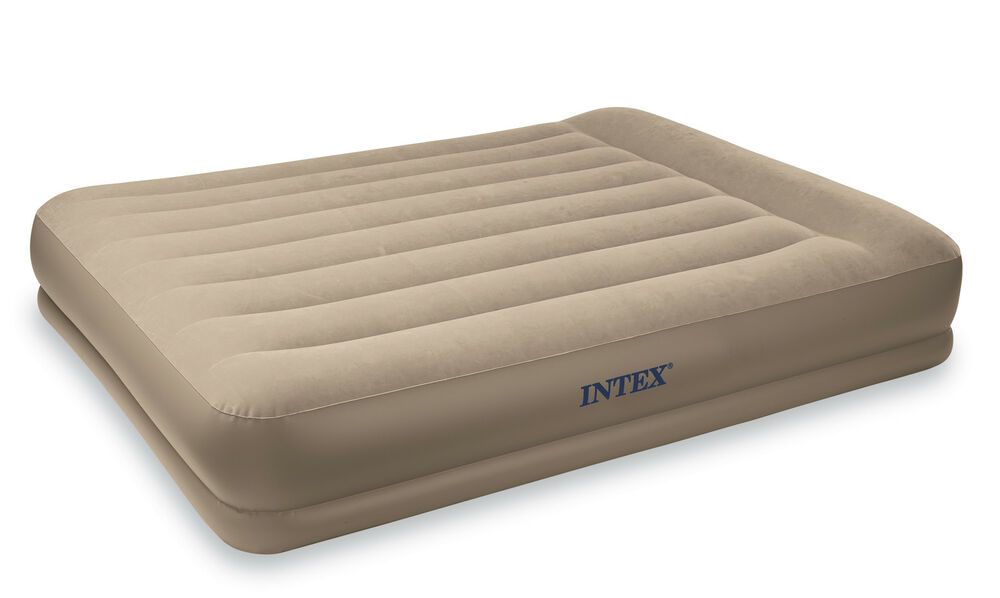 Intex Queen Pillow Rest Mid Rise Air Mattress Built In