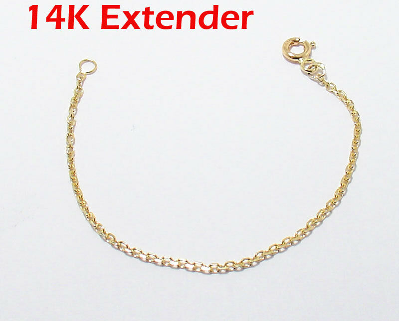 1mm Solid Cable Chain Necklace Extender For Pendant Charm
