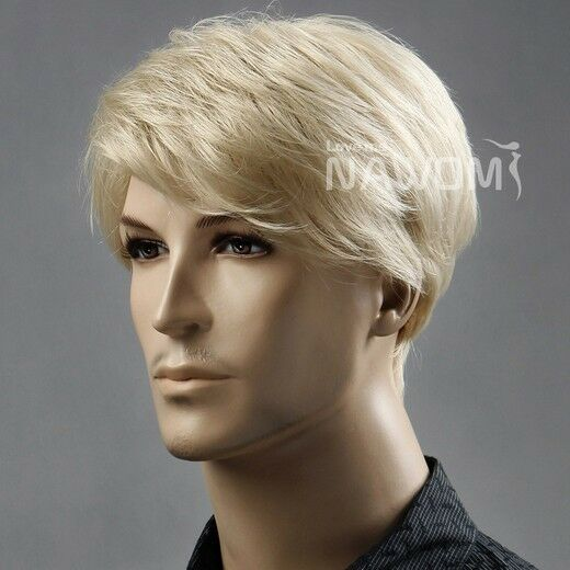Short Blonde Wig Mens 45