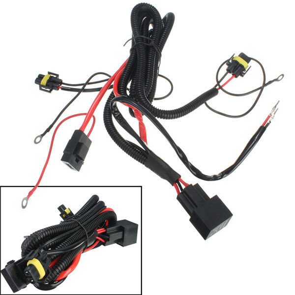 H11 880 Fog Wiring Harness With Relay Switch Connectors
