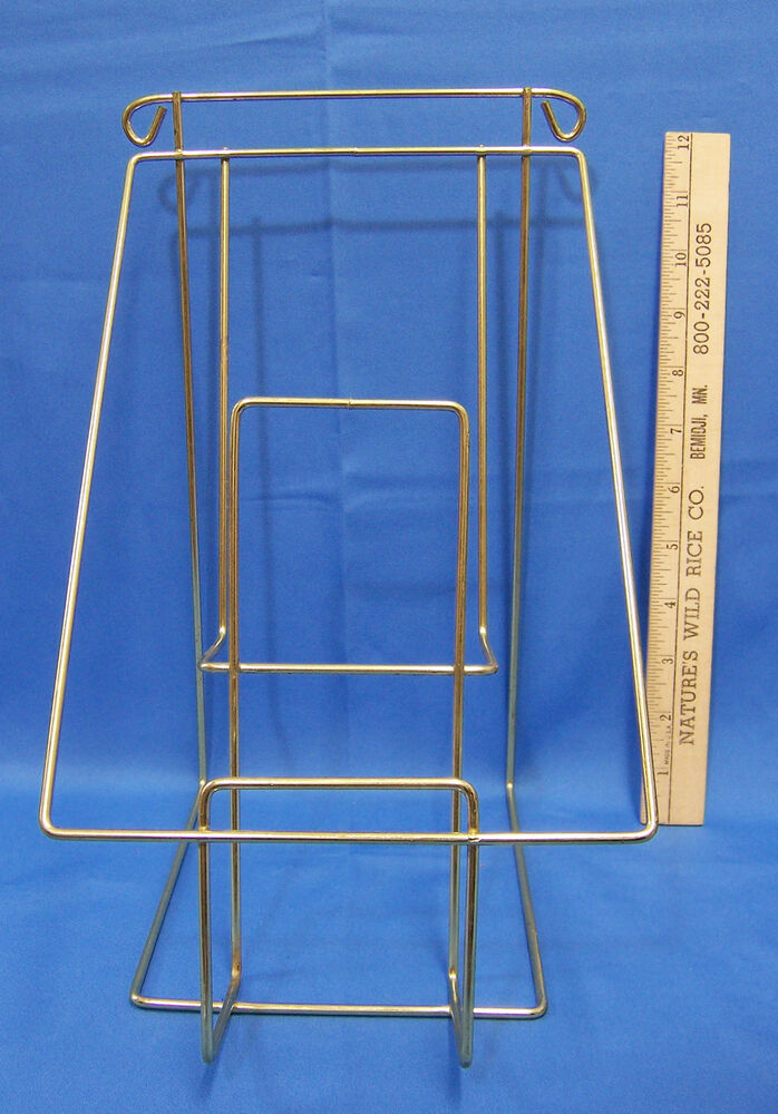 retail book display wire double tiered rack countertop or