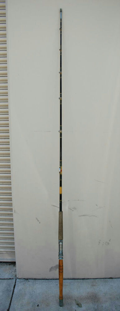 80 Quot Vintage Varmac Rs 3 Fishing Pole With Wood Handle Ebay