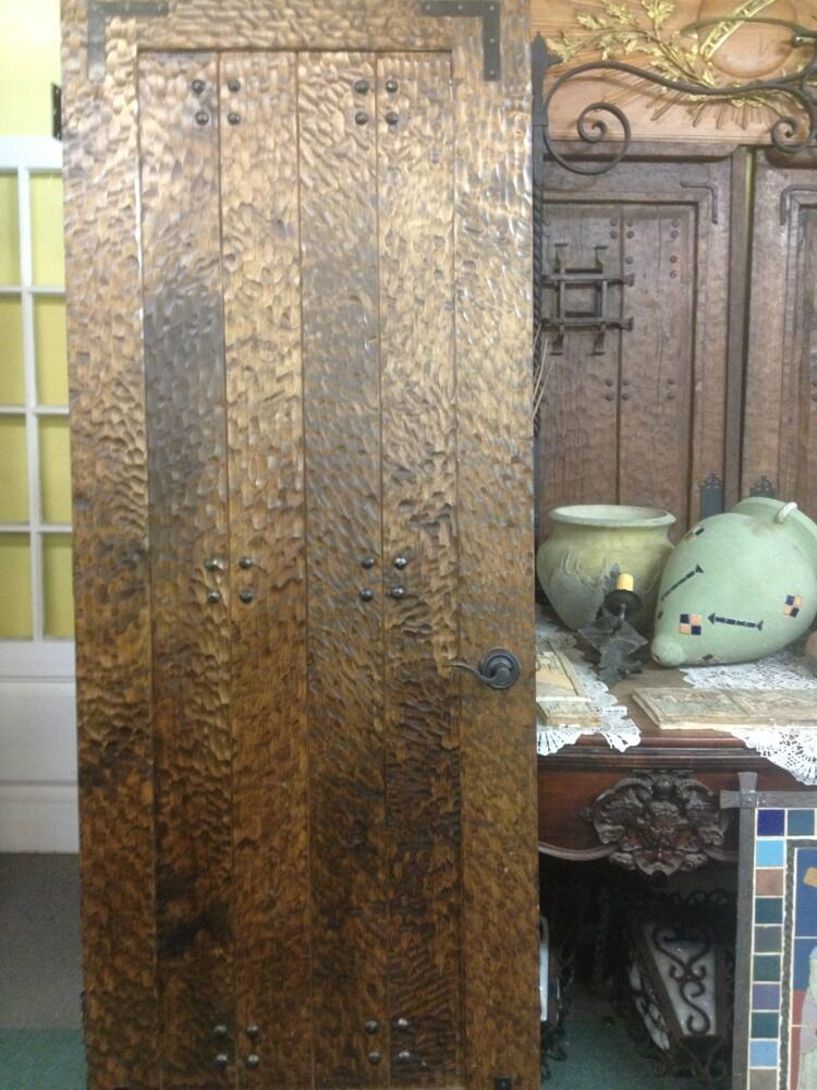 Reproduction Spanish Revival Door Handhewn With Hardware