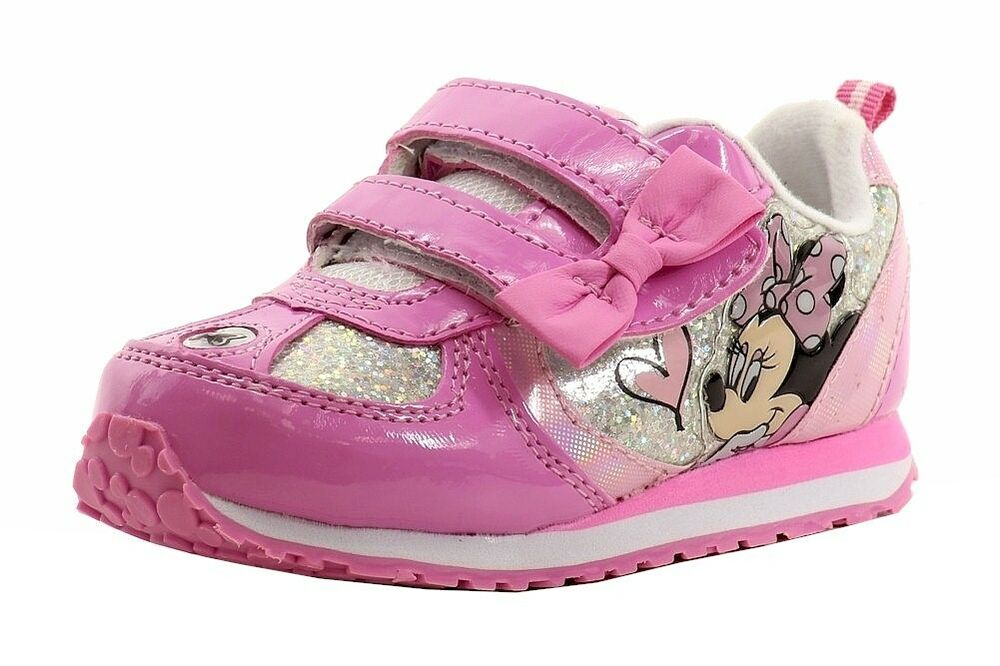 Disney Minnie Mouse Girl S Light Up Sneakers Shoes