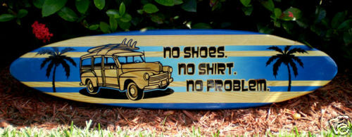 3 Foot Horizontal Woody No Problem Solid Wood Surfboard ...