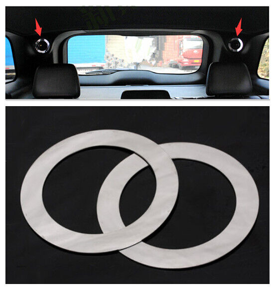interior rear trunk speaker cover trim 2pcs for jeep grand cherokee 2011 2015 ebay. Black Bedroom Furniture Sets. Home Design Ideas