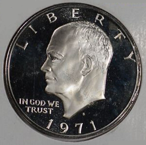 1971 S Eisenhower Dollar 40 Silver Us Mint Proof Brown
