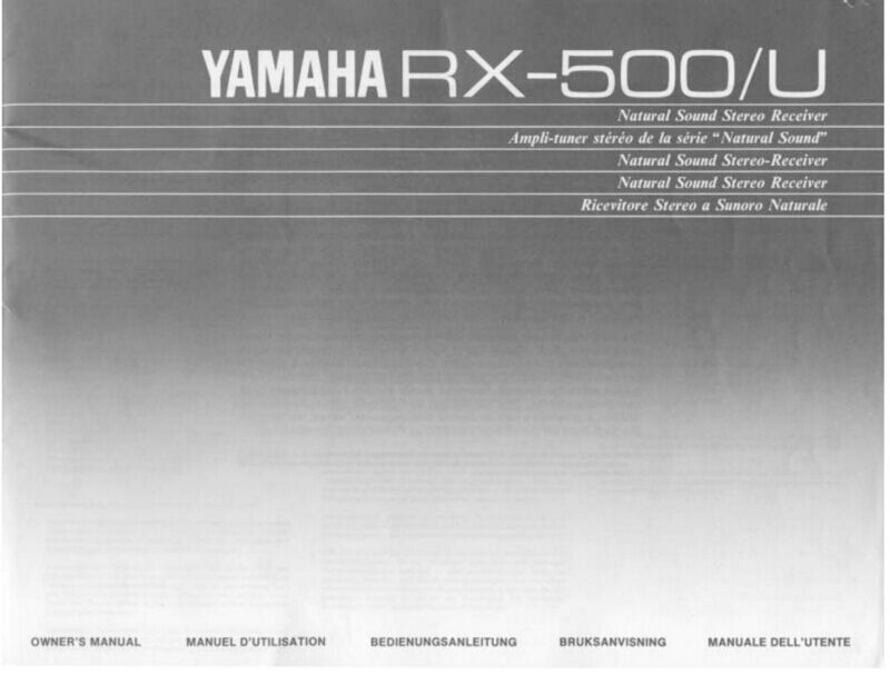 Yamaha rx 500 receiver owners manual ebay for Yamaha rx v565 manual