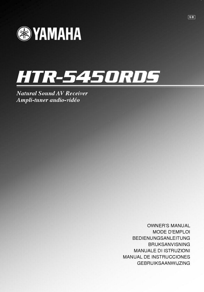 Yamaha htr 5450 rds receiver owners manual ebay for Yamaha ysp 5600 manual