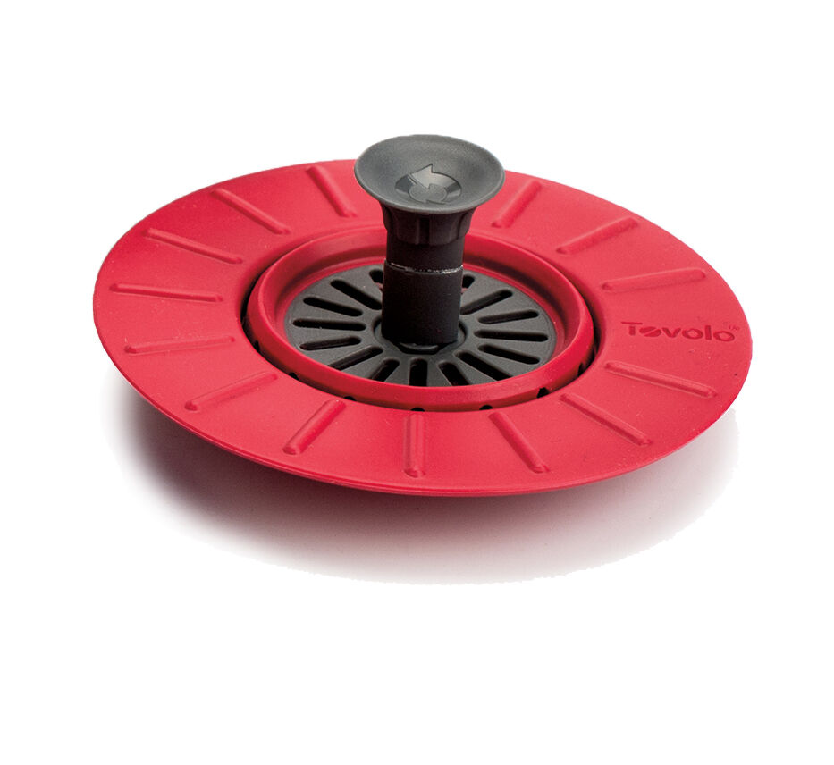 Tovolo Sink Stopper Drain Plug Strainer Red