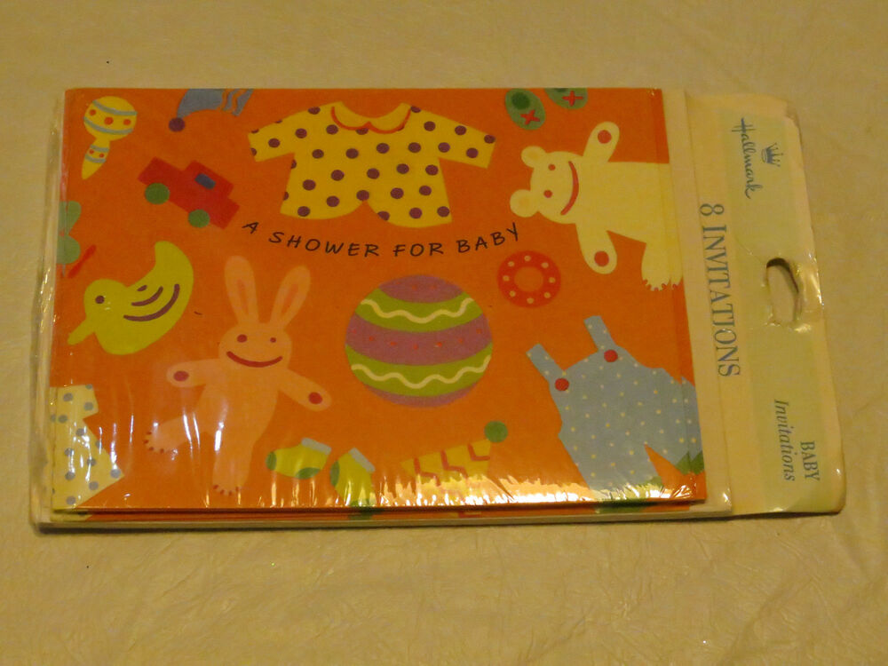 hallmark 5 packs of 8 invitations a shower for baby party baby