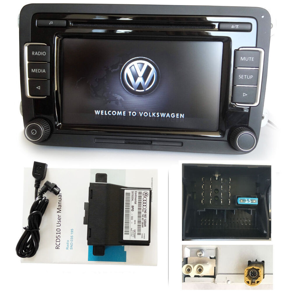 vw autoradio rcd510 mit canbus gateway aux usb cd sd mp3. Black Bedroom Furniture Sets. Home Design Ideas