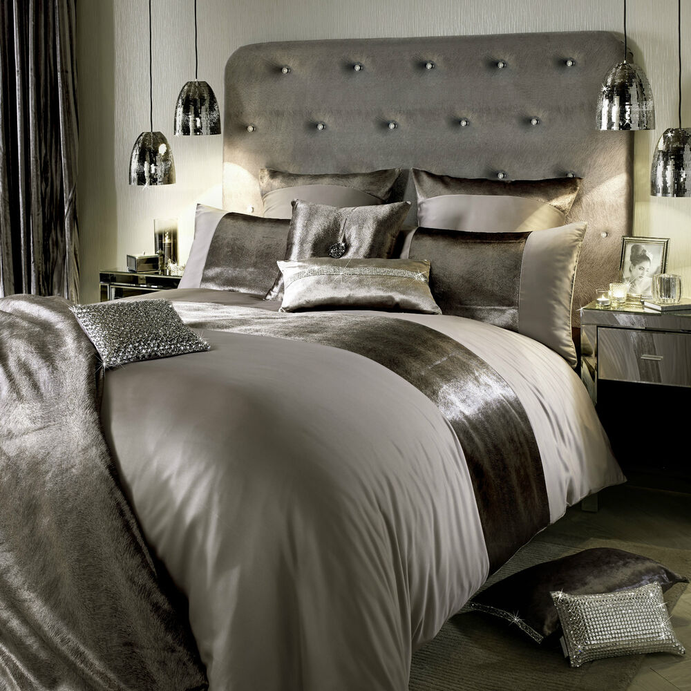 kylie minogue bedding lorenta truffle beige duvet cover cushion or throw ebay. Black Bedroom Furniture Sets. Home Design Ideas