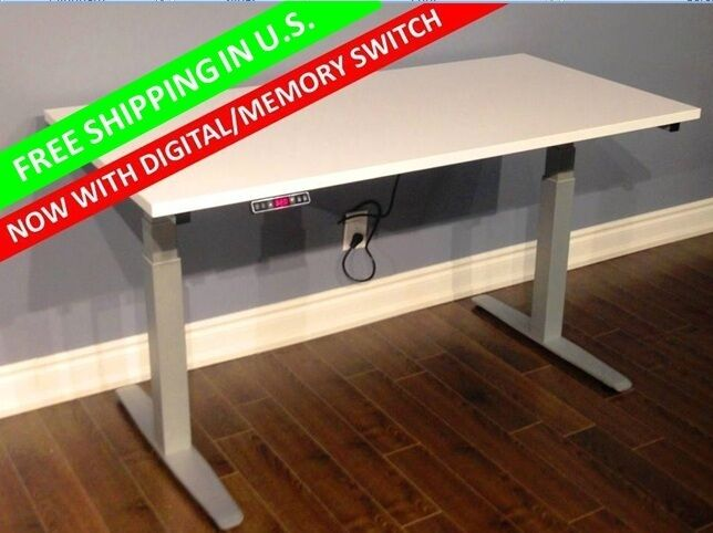 Height Adjustable Table Sit Stand Desk Ebay