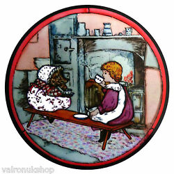 STAINED GLASS WINDOW ART STATIC CLING BEATRIX POTTER - MRS TIGGYWINKLE