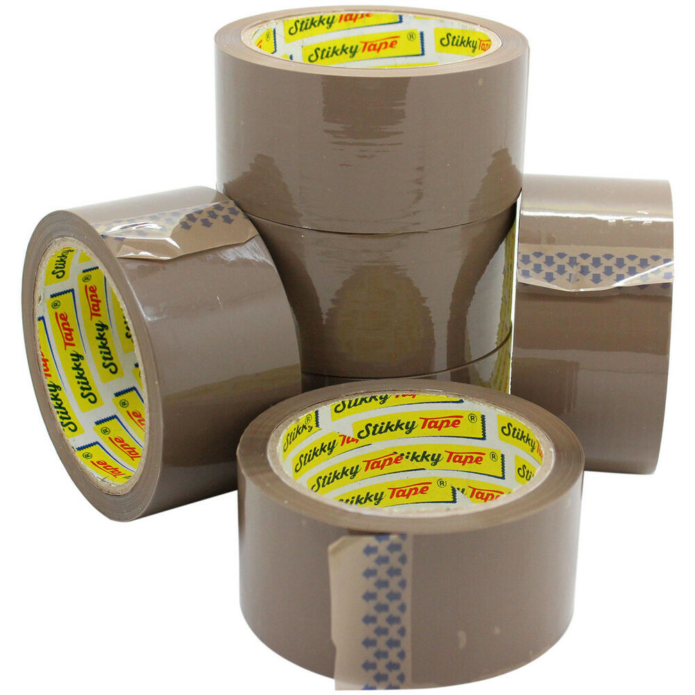 12 Rolls Buff Brown Extra Strong Parcel Carton Tape
