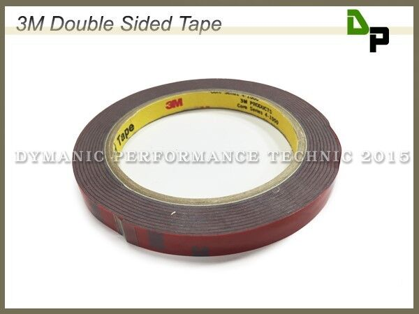 one roll of automotive 3m double sided adhesive tape l 3m x w 10mm x d 1mm ebay. Black Bedroom Furniture Sets. Home Design Ideas