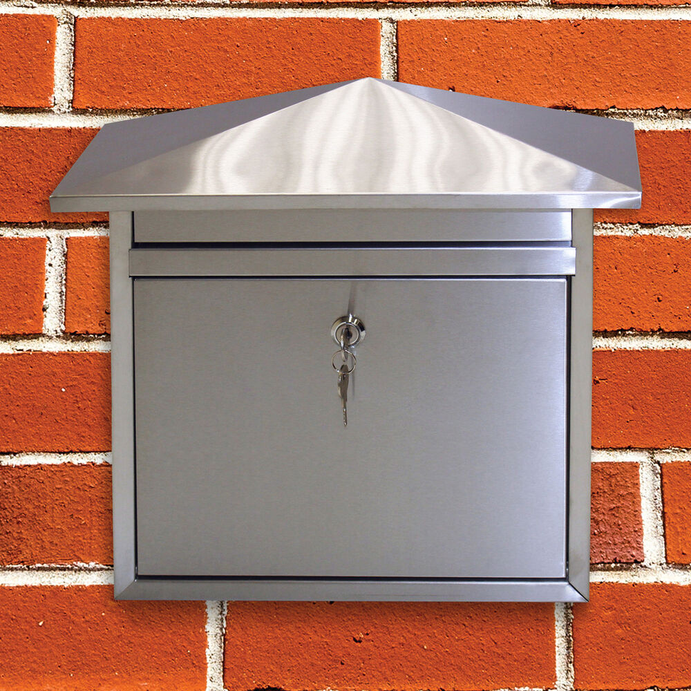 Contemporary Stainless Steel House Wall Post Box Letter
