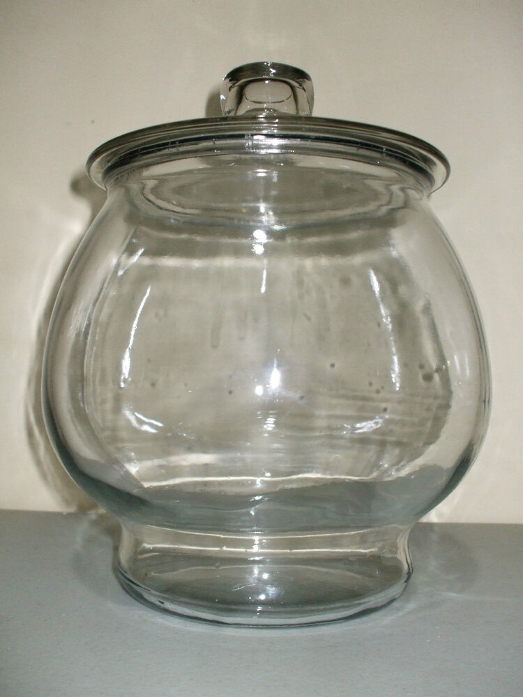 large footed round glass apothecary jar terrarium ebay. Black Bedroom Furniture Sets. Home Design Ideas