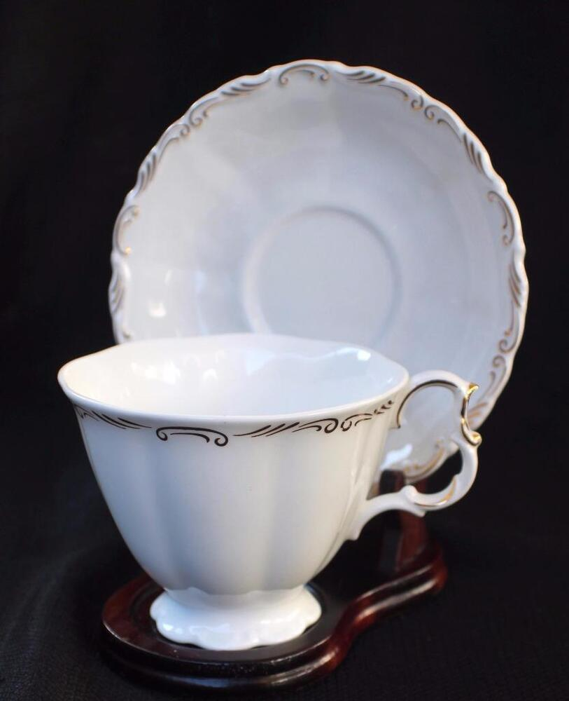 vintage royal albert bone china england orleans set cup saucer ebay. Black Bedroom Furniture Sets. Home Design Ideas