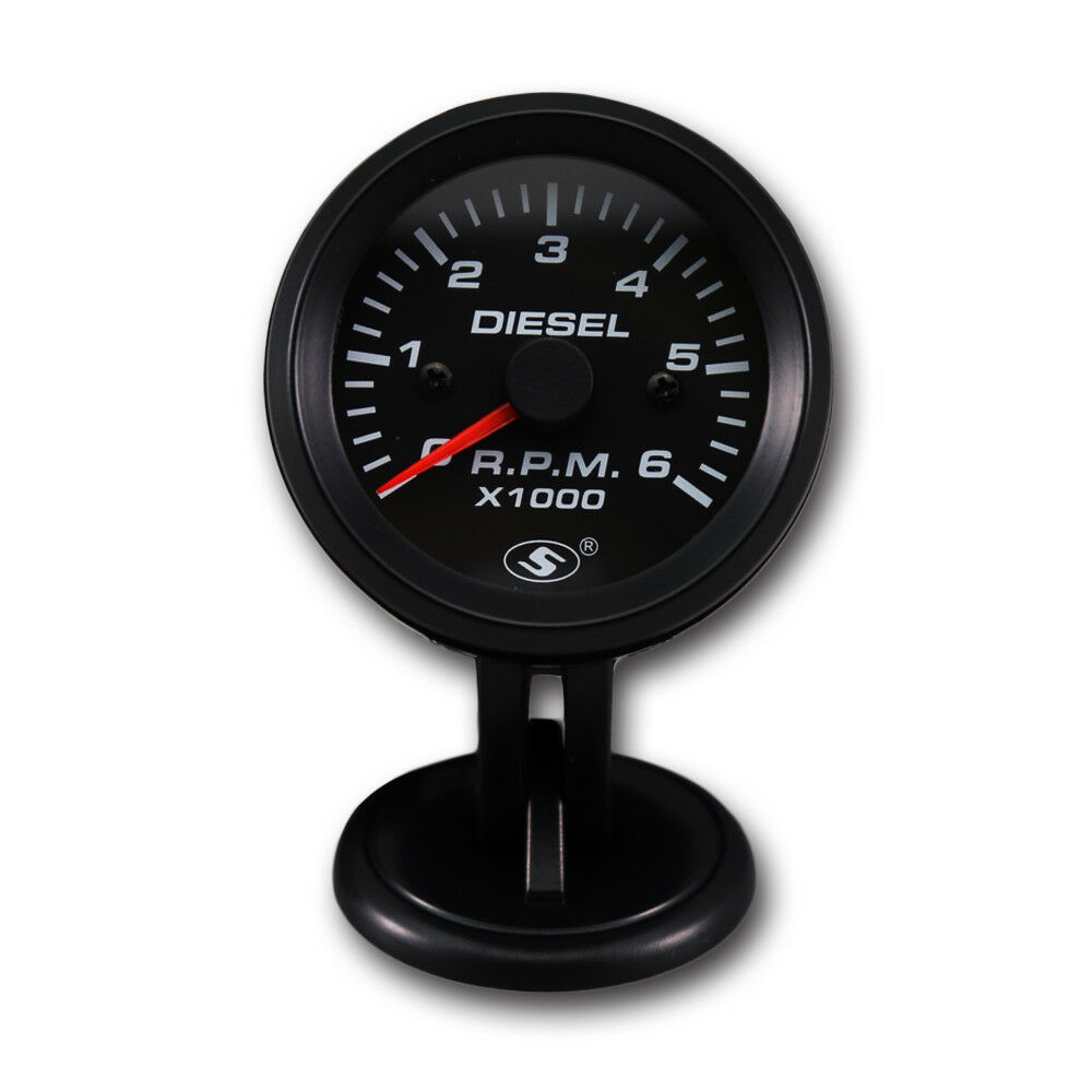 52mm 0 6000 rpm on dash electrical tachometer gauge for for Tachometer for electric motor