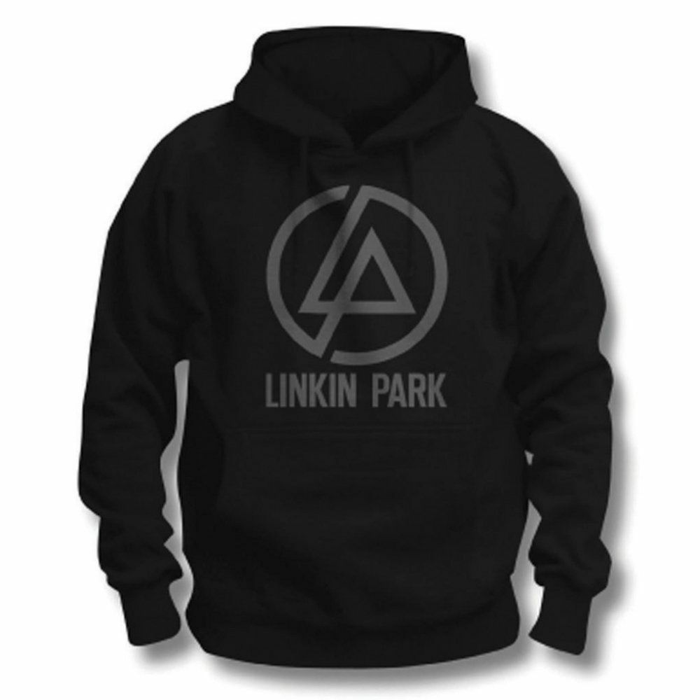official linkin park logo men 39 s black pullover hoodie. Black Bedroom Furniture Sets. Home Design Ideas