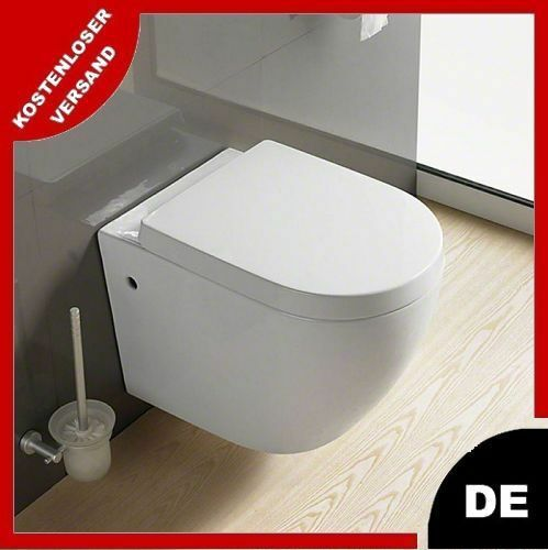 wandh ngend h nge toilette keramik weiss wc bidet carlo weiss set auch schwarz ebay. Black Bedroom Furniture Sets. Home Design Ideas