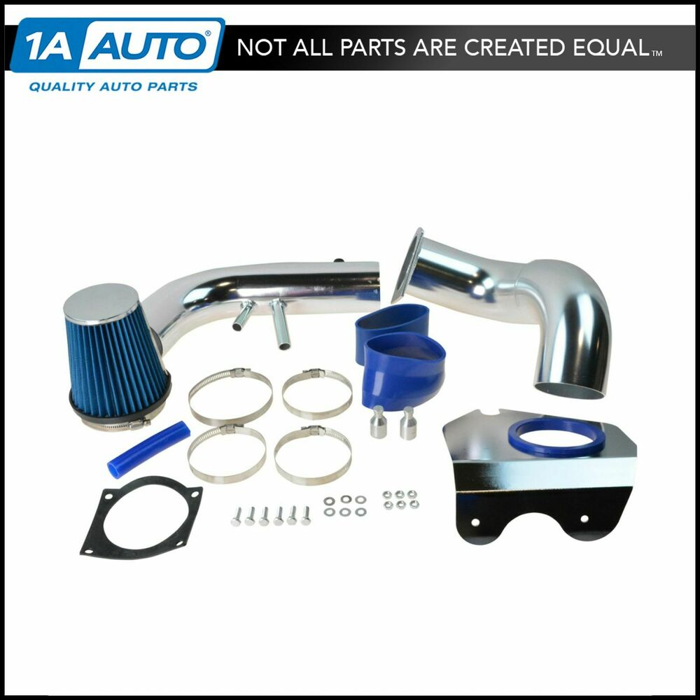 performance cold air intake cai w blue air filter for ford