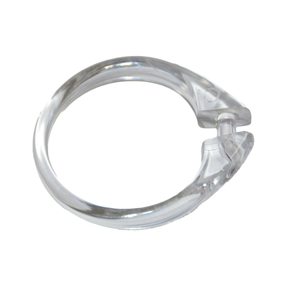 Carnation Clear Plastic Shower Curtain Ring Snap Lock Set Of 12 Ebay