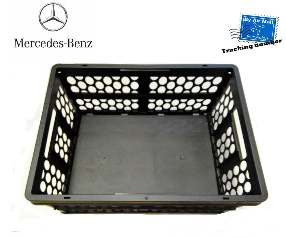 Oem mercedes benz mercedes shopping crate anthracite ebay for Ebay mercedes benz