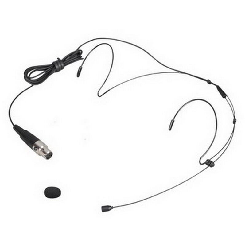 pro black headset head microphone mic for shure wireless mini 4pin connector ebay. Black Bedroom Furniture Sets. Home Design Ideas