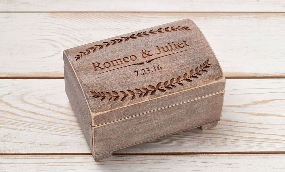Ring bearer box wedding ring box ring holder wooden box for Wedding ring holder box