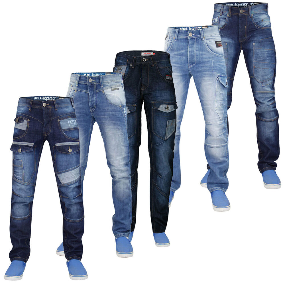 New mens designer rawcraft denim fashion straight leg Uk mens designer clothing