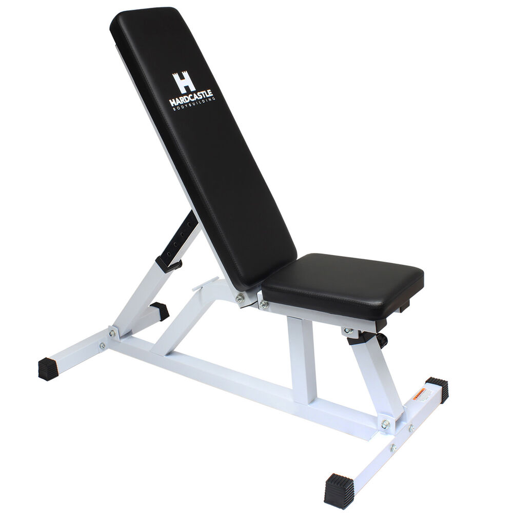 Hardcastle White Adjustable Flat Incline Weight Bench Home