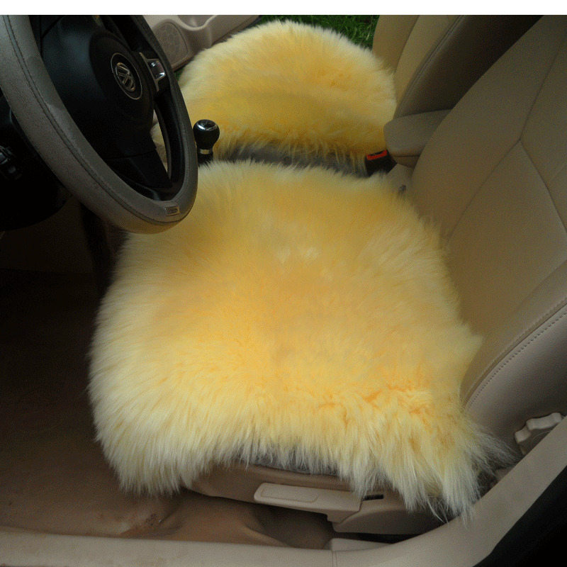 Sheepskin Car Seat Covers Genuine Long Wool Chair Cushion