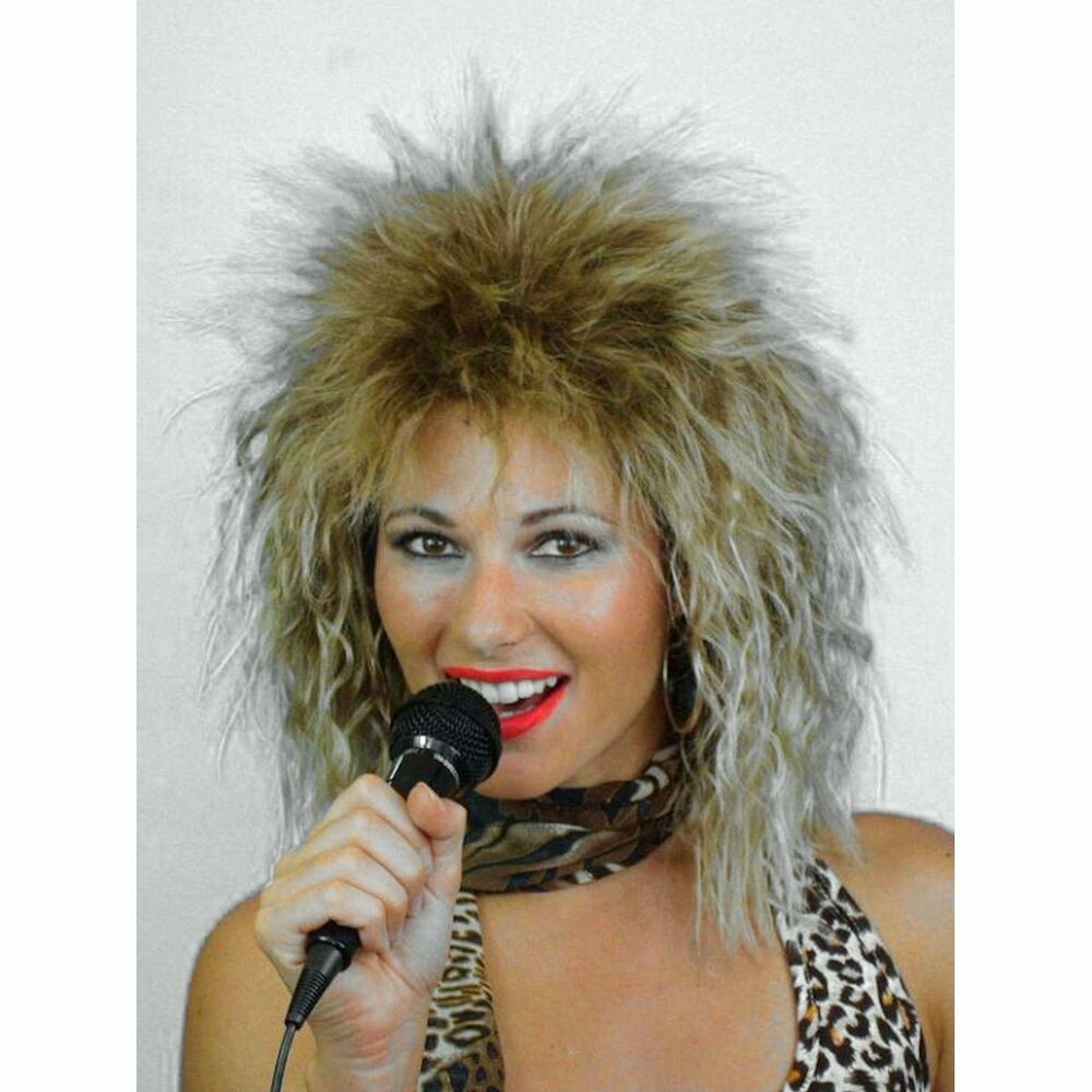 80's Heavy Metal Rockstar Tina Turner Diva Fancy Dress ...