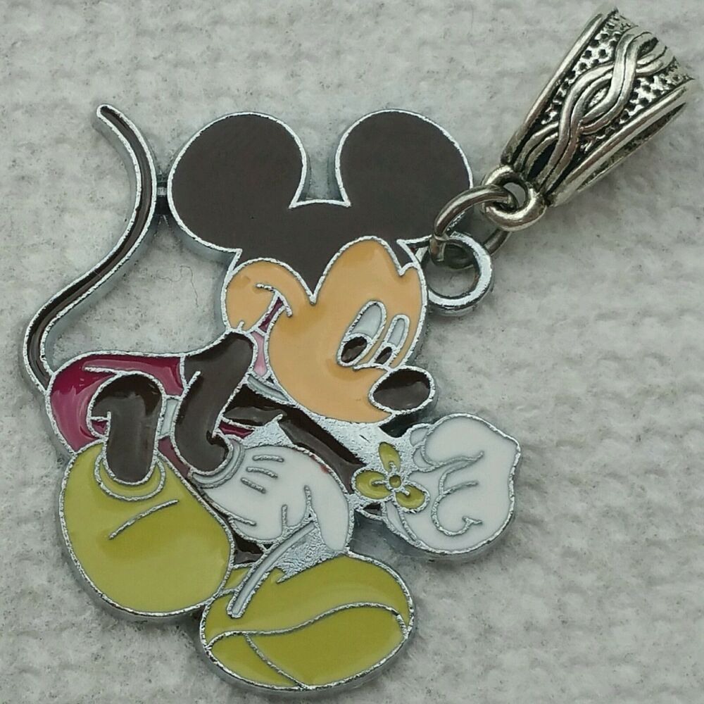 Mickey Mouse Charm Bracelet: CHOCOLATE Licensed Disney MICKEY MOUSE Dangle Pendant XL