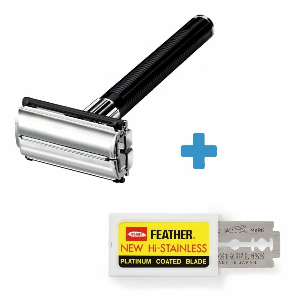 Classic Traditional Double Edge Shaving Safety Razor + 10
